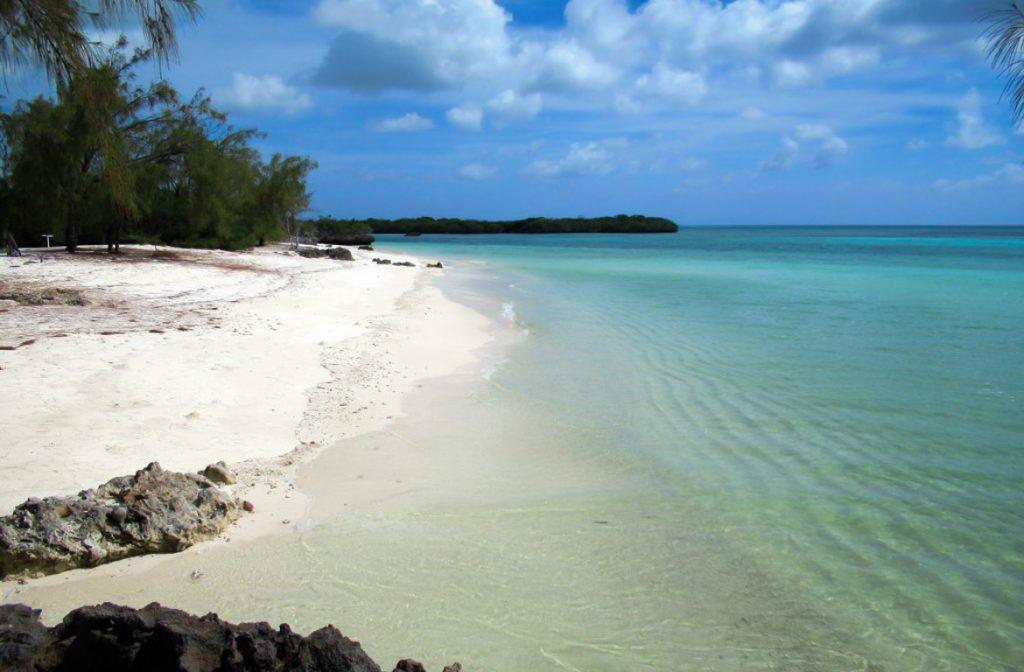 Praia Aldabra, na Ilha Picard, Seychelles