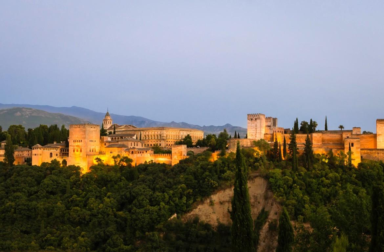 Alhambra, no município de Granada, Espanha