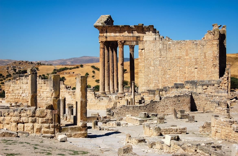 Templo romano, Dougga, Tunísia