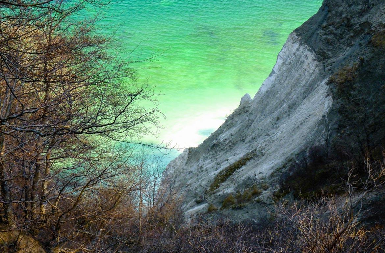penhascos de calcário de Mons Klint, Dinamarca