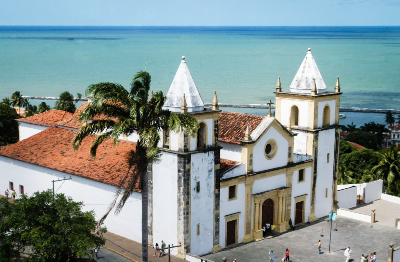 Vista aérea de Olinda, Pernambuco, Brasil