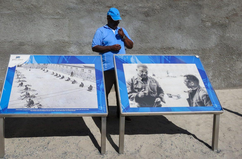 Fotografias de Nelson Mandela, Robben Island, África do Sul