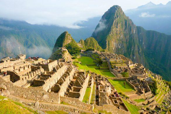 Vista aérea de Machu Picchu, Peru