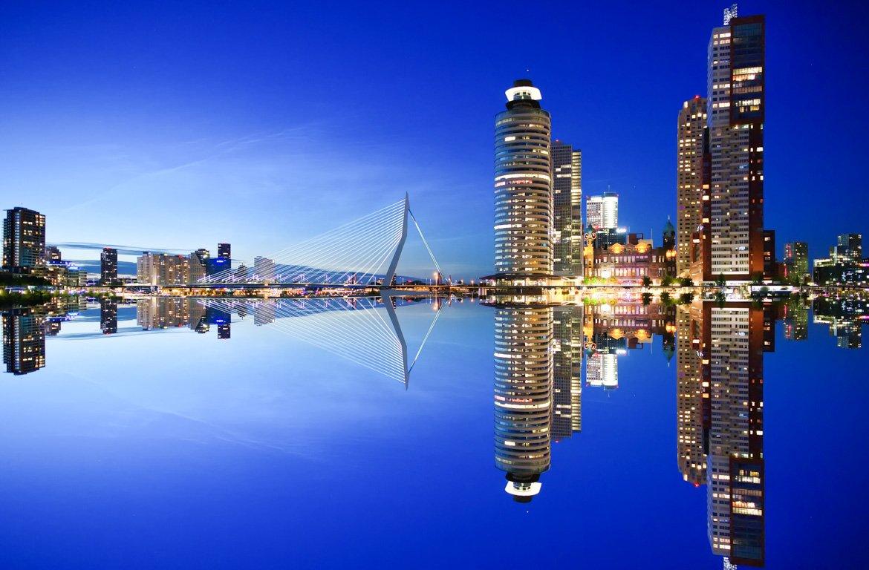 Arquitetura moderna em Roterdão, Holanda