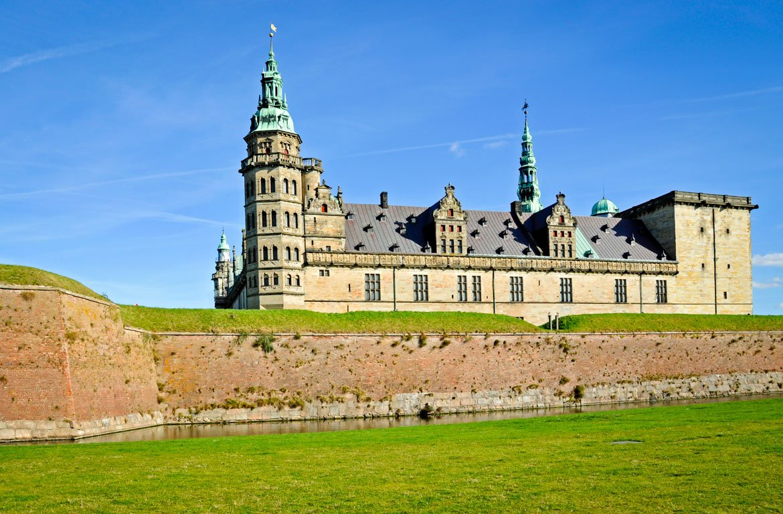 Interior do Castelo de Kronborg, próximo de Helsingor