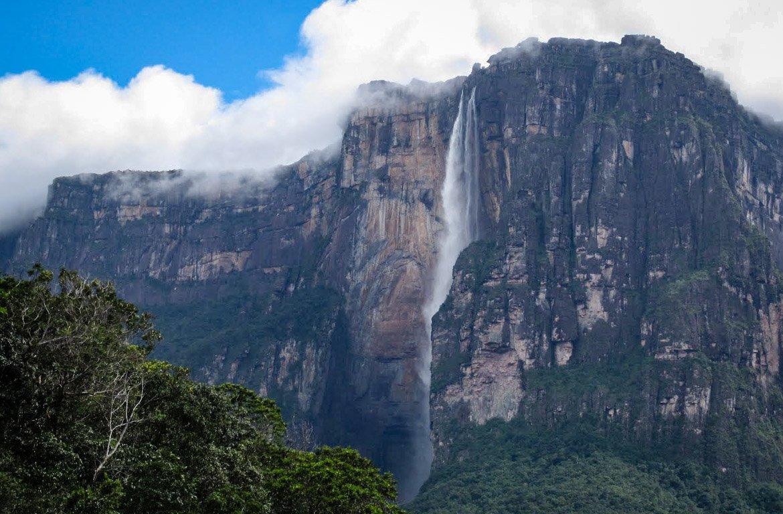 Catarata Salto Ángel, na Venezuela.