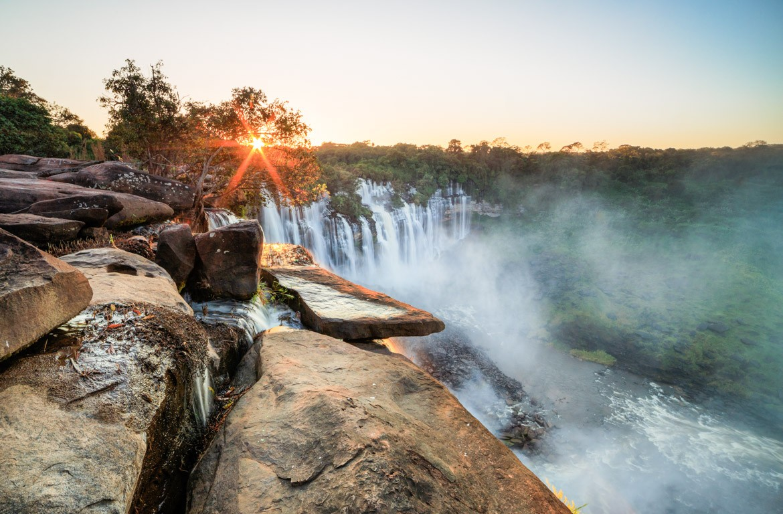 quedas d'água de Kalandula, Angola
