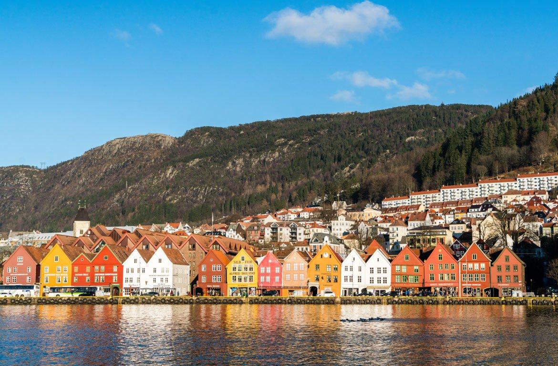 Prédios de Bergen, na Noruega