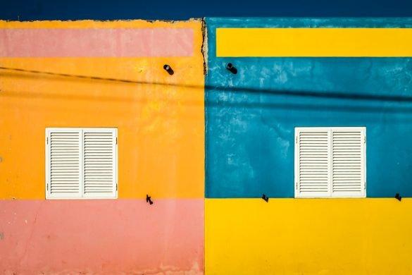 Pormenor arquitectónico na Cidade da Praia, em Cabo Verde