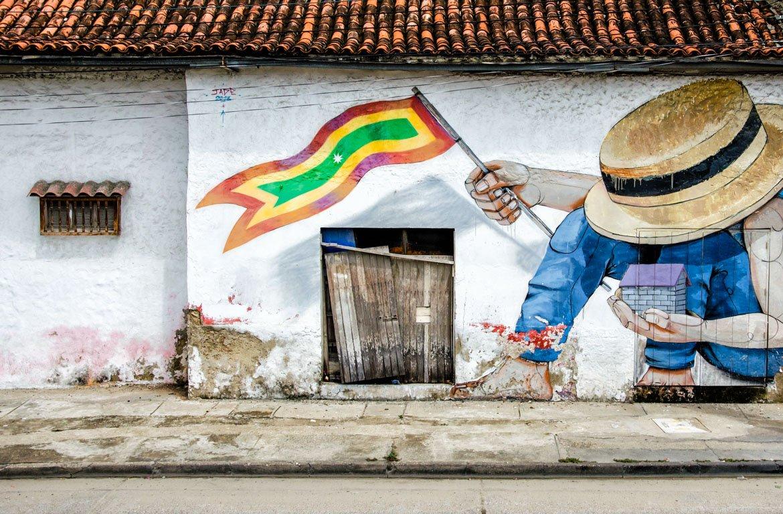 graffiti em arquitectura colonial, Cartagena de Indias, Colômbia