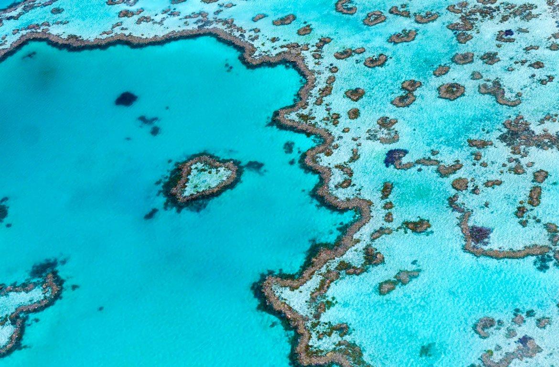 Sobrevoar a Grande Barreira de Coral, na Austrália