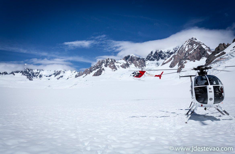 Viagem de helicóptero no Glaciar Franz Josef, Ilha Sul, Nova Zelândia