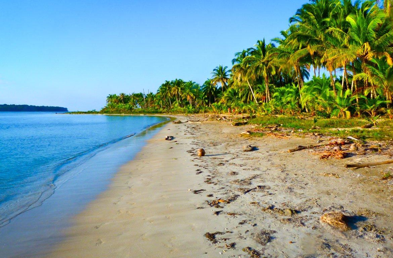Praia na Isla Colón, Bocas Del Toro, Panamá
