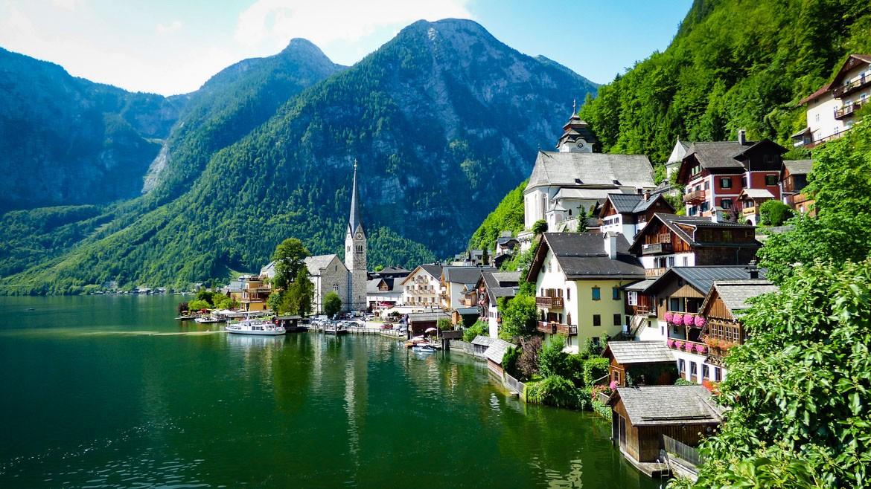 Hallstatt, lago Hallstätte, Áustria
