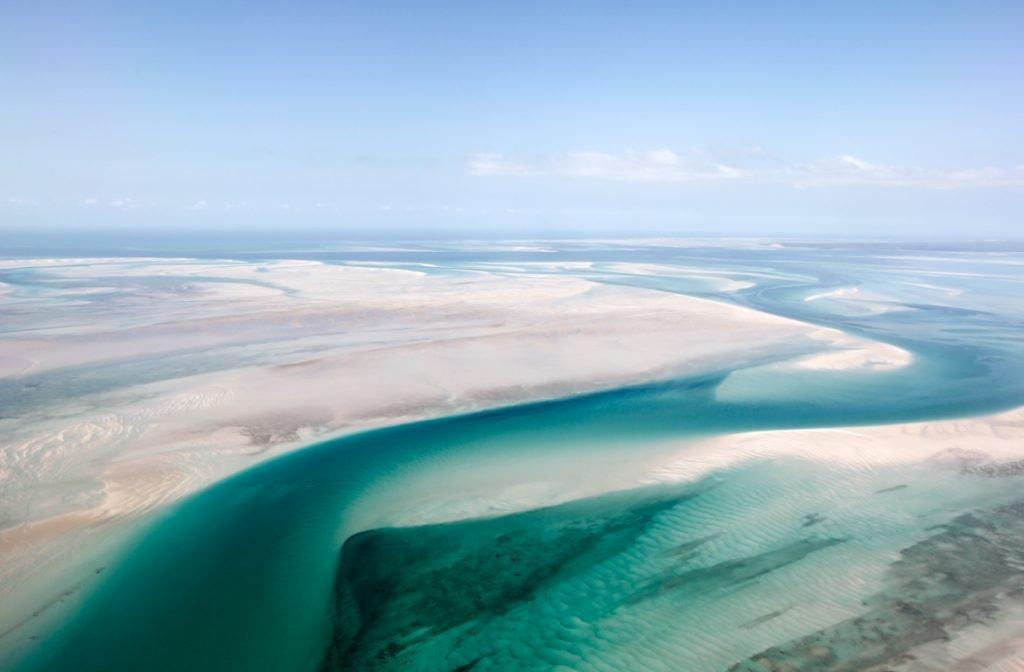 Vista área de Bazaruto, Moçambique