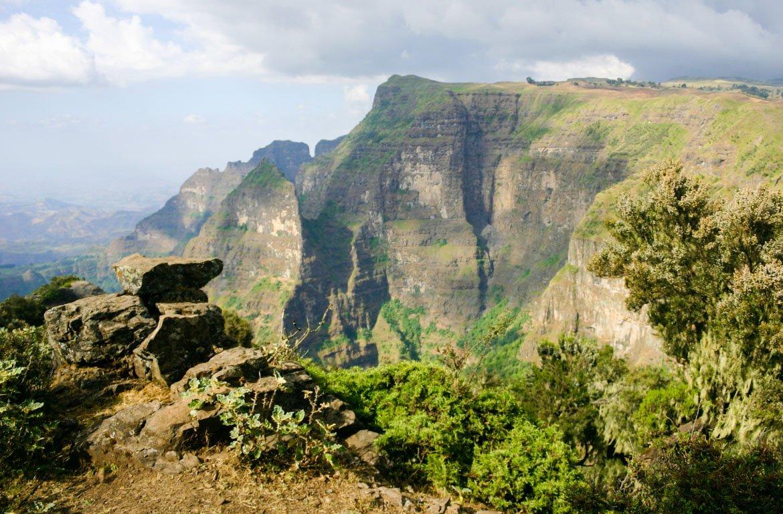 Montanha Parque Nacional de Simien, na Etiópia