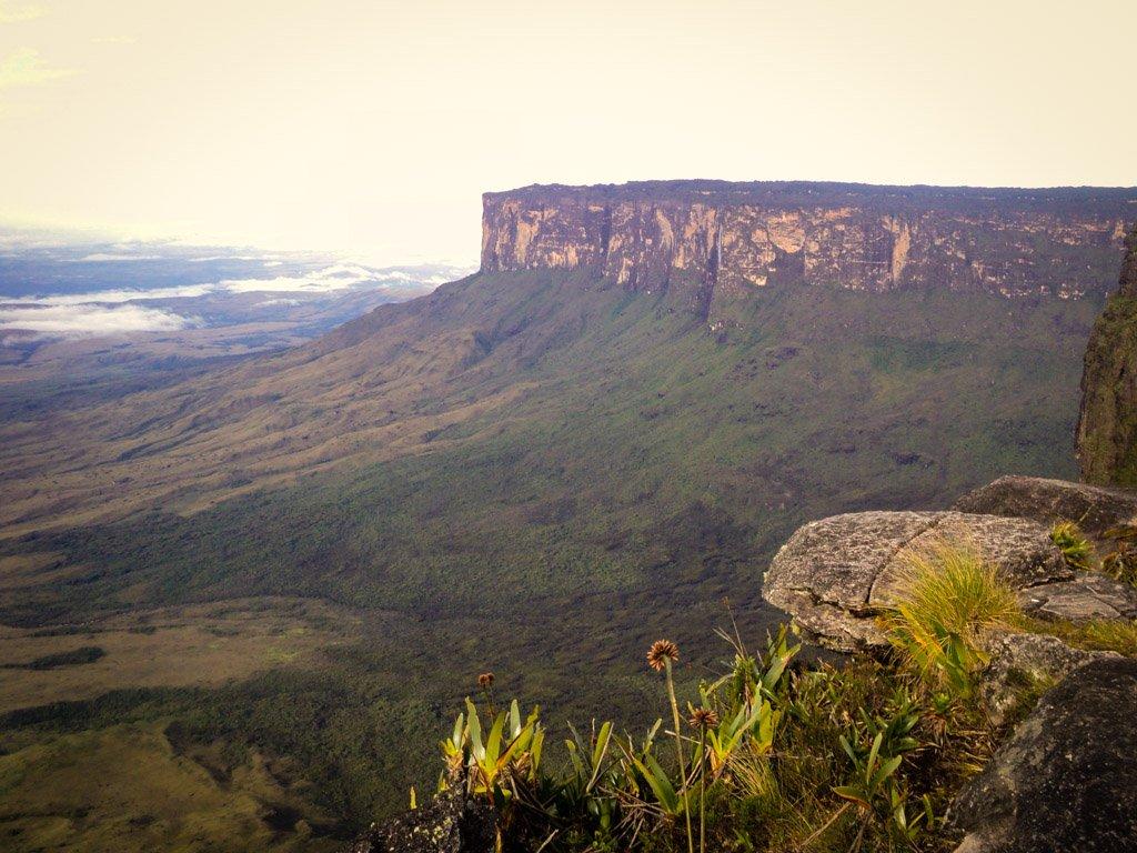 Monte Roraima, na fronteira entre Brasil, Venezuela e Guiana