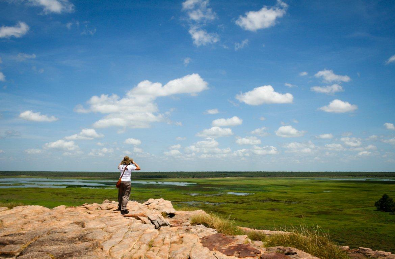 Turistas no Parque Nacional Kakadu, na Austrália