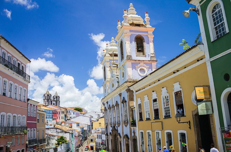 Pelourinho, em Salvador da Bahia, Brasil