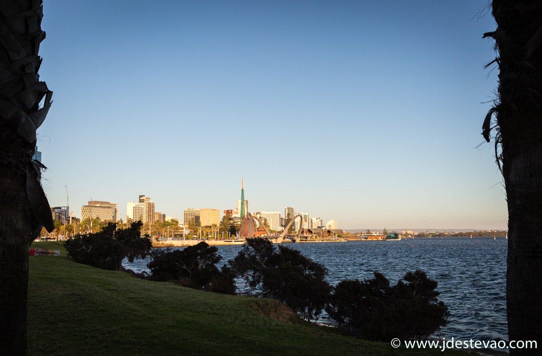 Pôr-do-sol em Perth, Austrália