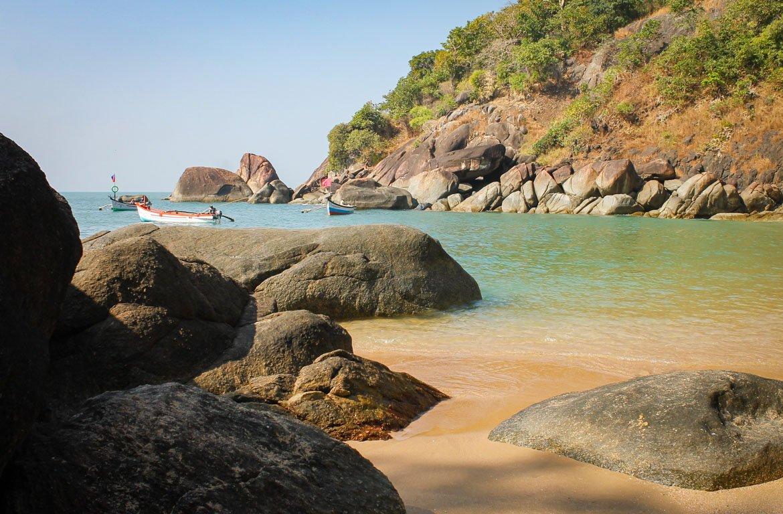 praia de Palolem, em Goa, Índia