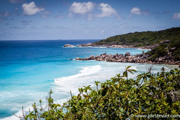 praia de Petit Anse, nas Seychelles