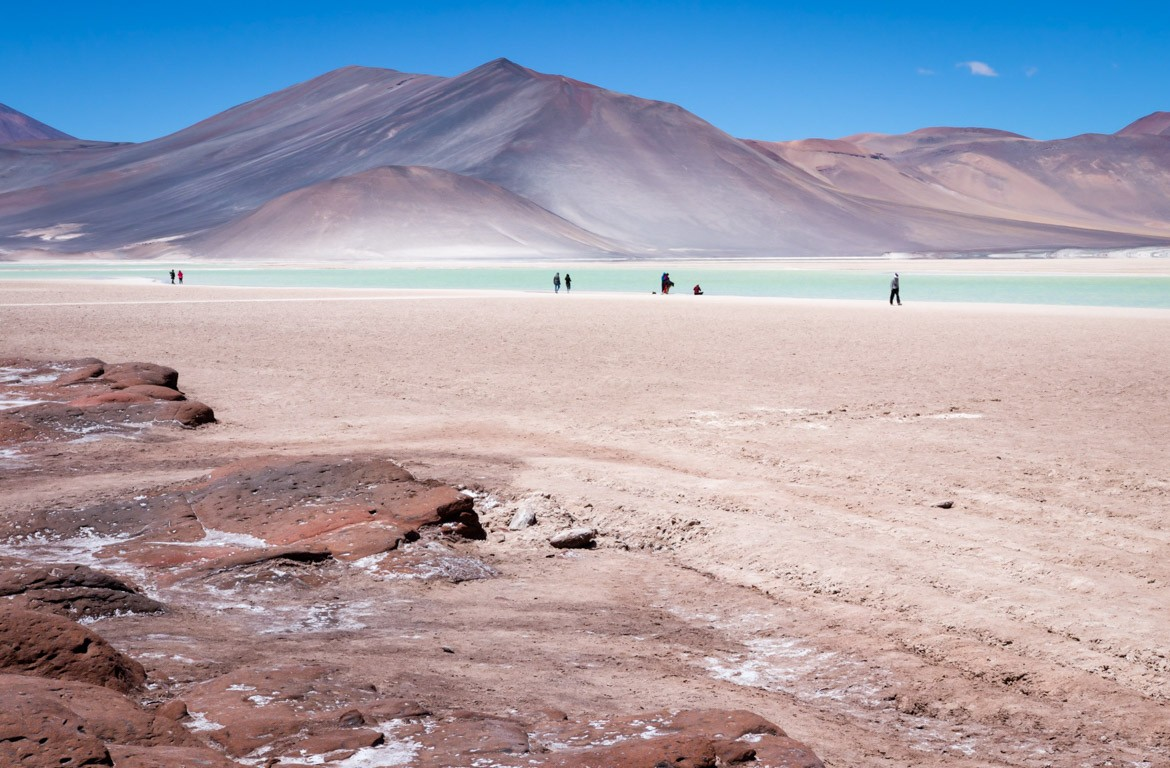 Laguna Colorada, Deserto do Atacama, no Chile