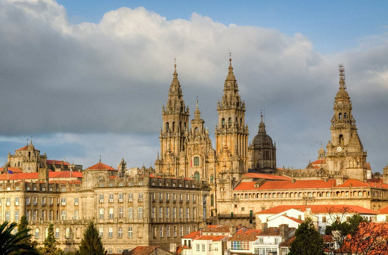 Catedral em Santiago de Compostela, em Espanha
