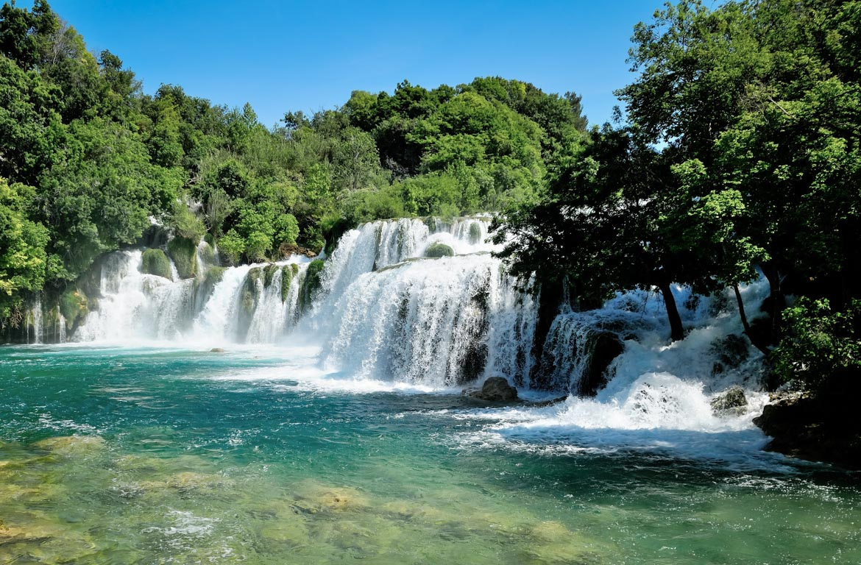 Cataratas no Parque Nacional de Krka, na Croácia