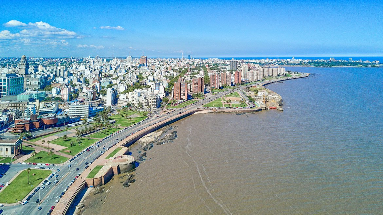 Vista aérea de Montevideu, Uruguai