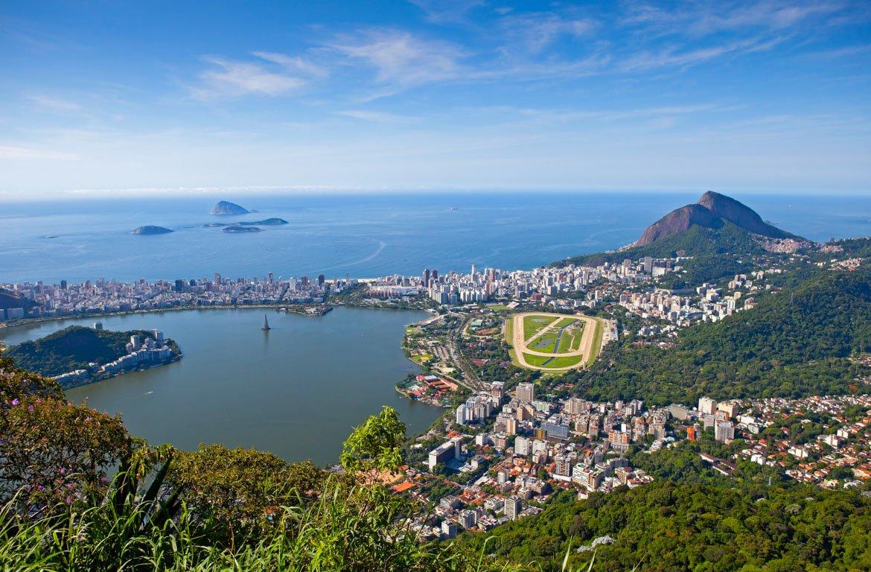 Vista desde o Pão de Açúcar, Rio de Janeiro, Brasil