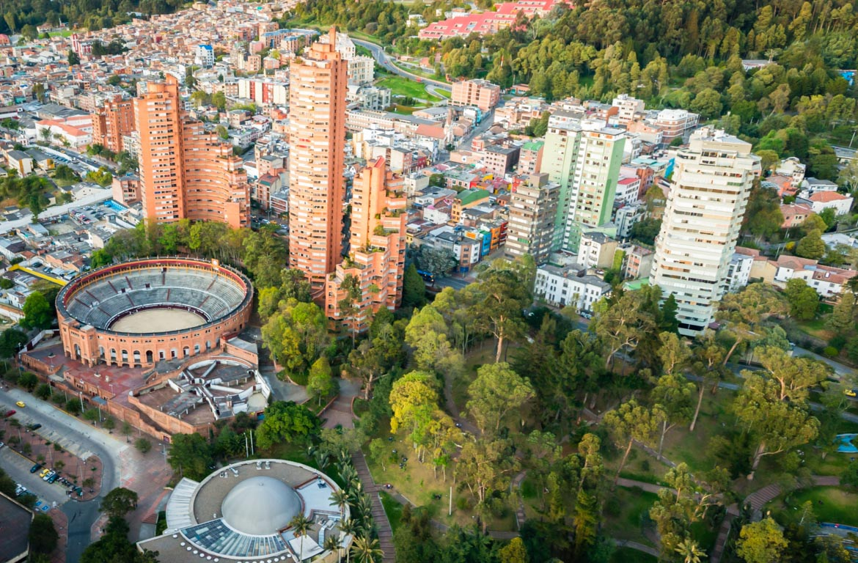 Vista aérea de Bogotá, Colômbia