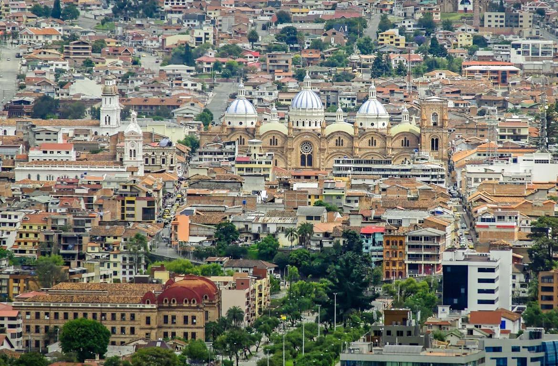 Vista aérea de Cuenca, Equador
