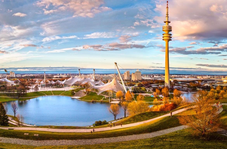 Vista panorâmica estádio Olímpico de Munique (Olympiastadion)