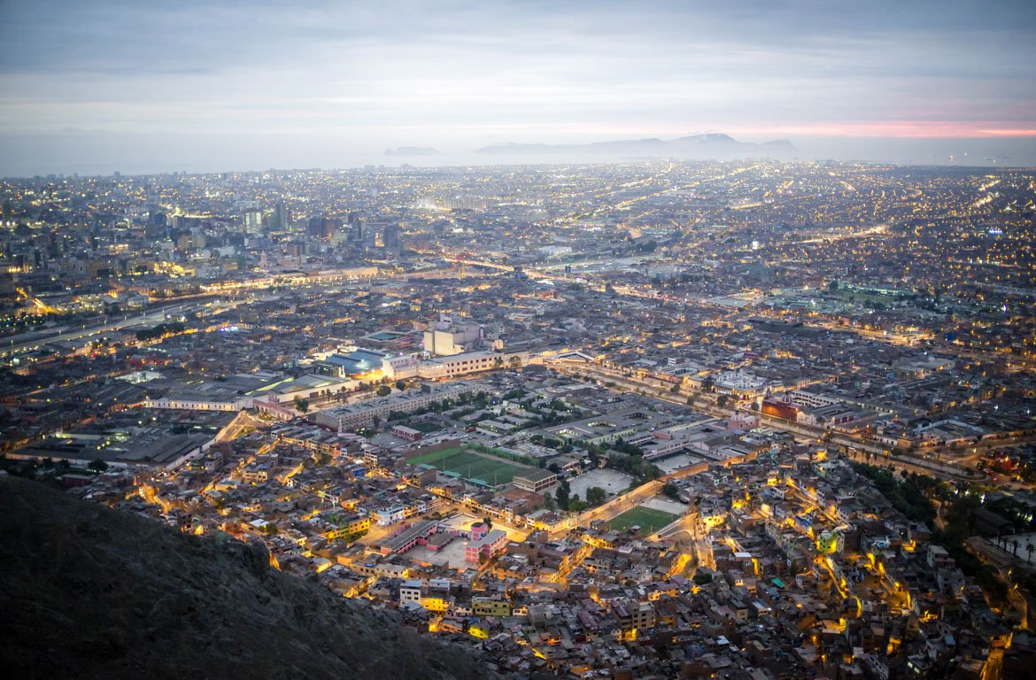 Vista aérea de Lima, a capital do Peru