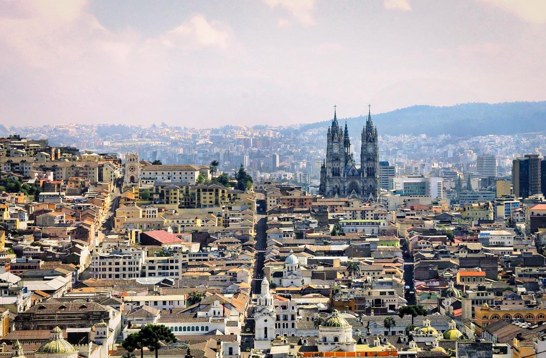 Vista aérea de Quito, Equador