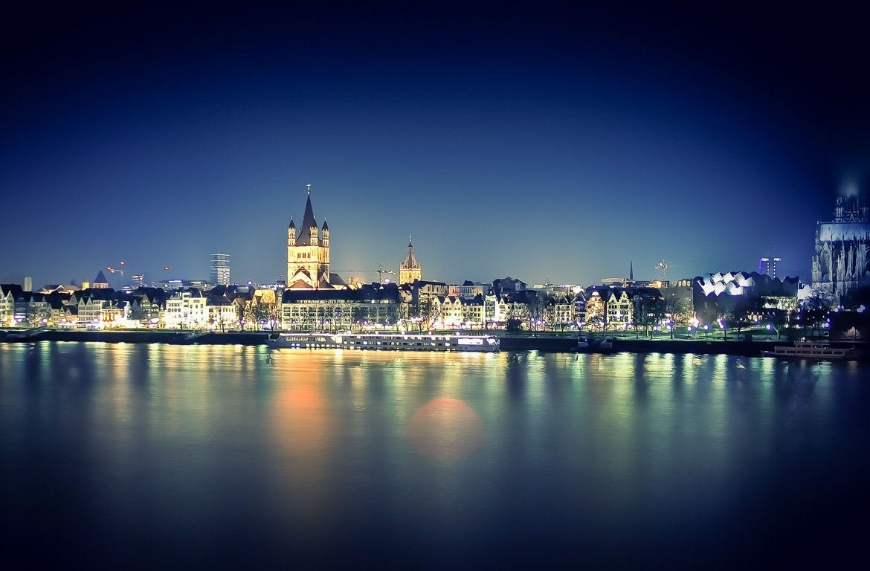 Catedral de Colónia à noite, Alemanha