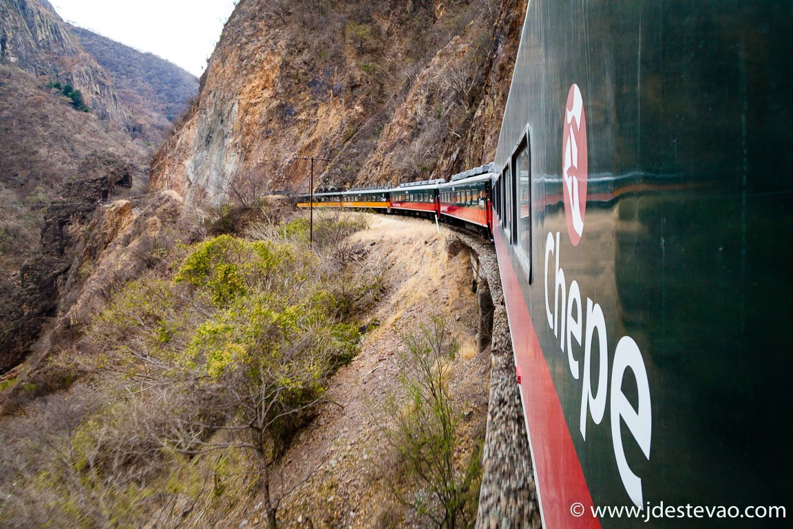 El Chepe, comboio nas Barrancas del Cobre, México