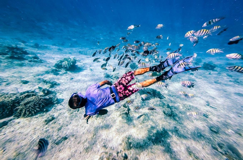 Mergulhador em Cozumel, Cancún, México