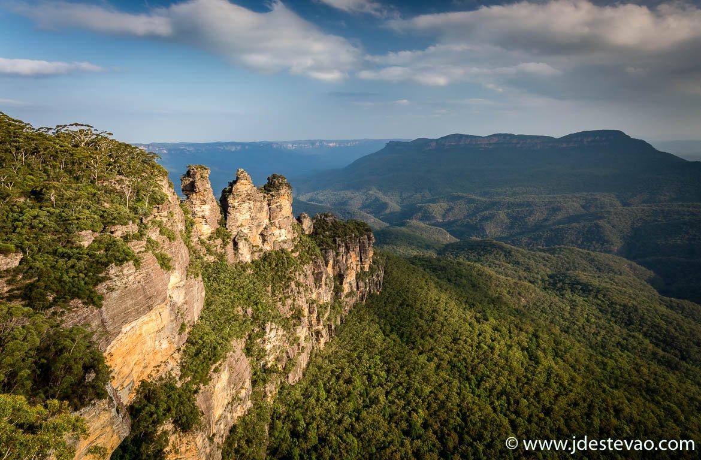 Três irmãs (Three Sisters), no Blue Mountains National Park, Austrália