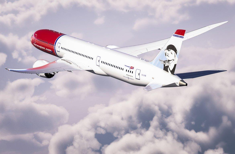 Boeing 787 Dreamliner, da Norwegian, no ar