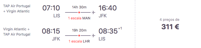 Voo para Nova Iorque