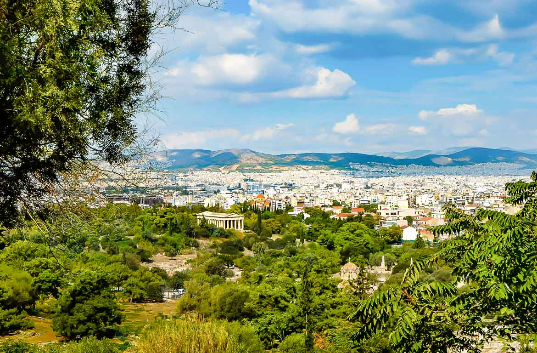 Vista panorâmica de Atenas