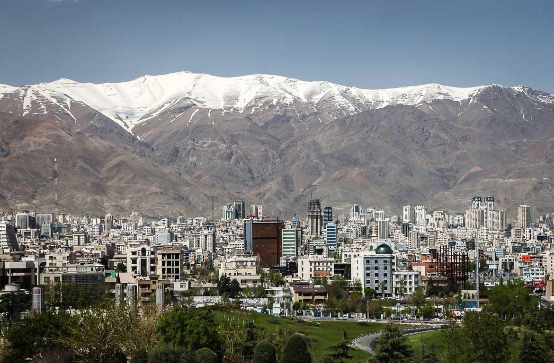 Vista de Teerão, Irão