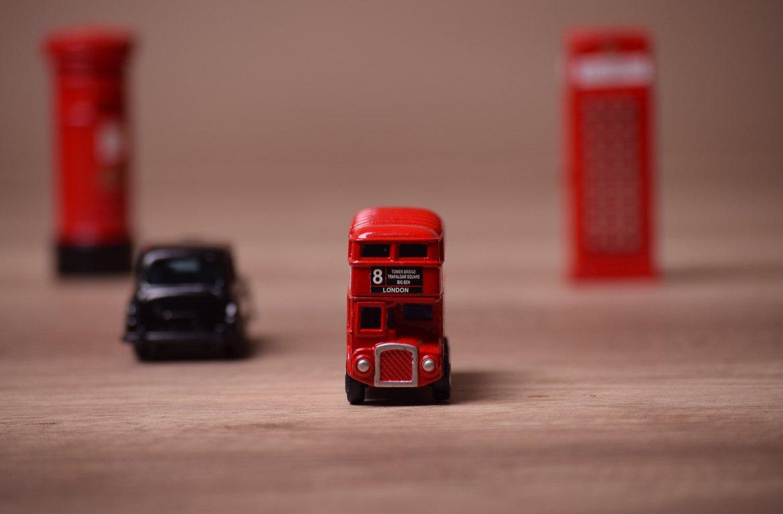 Autocarro de Londres, em miniatura