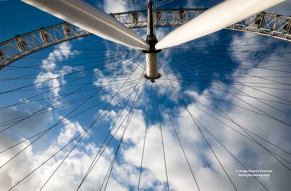 London eye em Londres