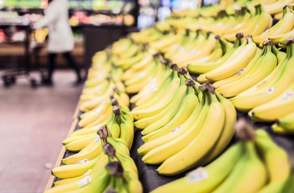 Bananas no supermercado