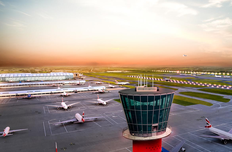 Torre de controlo do aeroporto de Heathrow