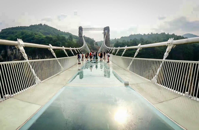 Ponte de Vidro no Parque Nacional de Zhangjiejie