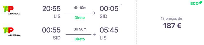 Voo Lisboa - Ilha do Sal